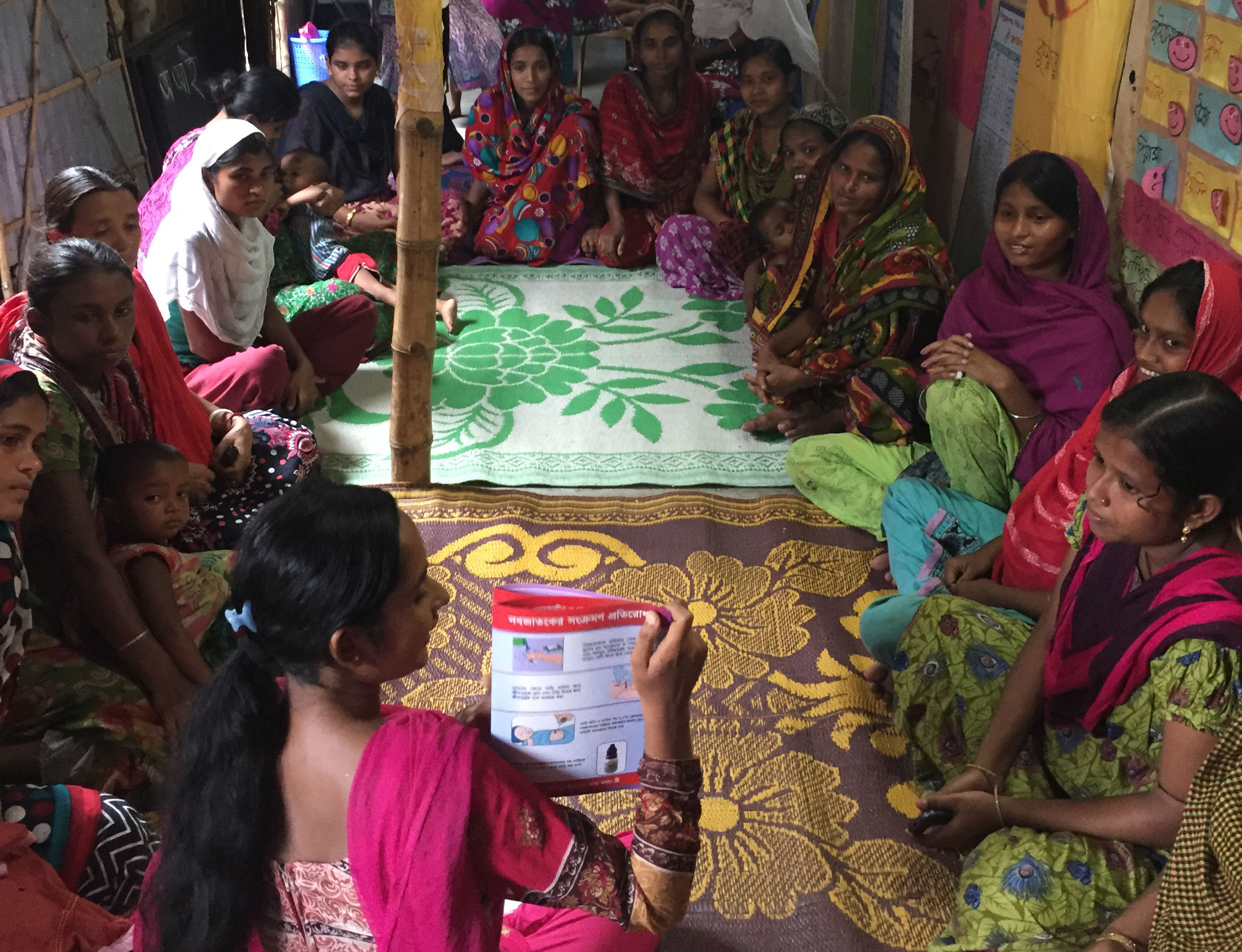 Women learning in Bangladesh