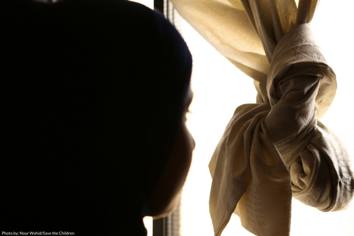 12-year old Hurriyah*, a Syrian refugee living with her family in Lebanon.