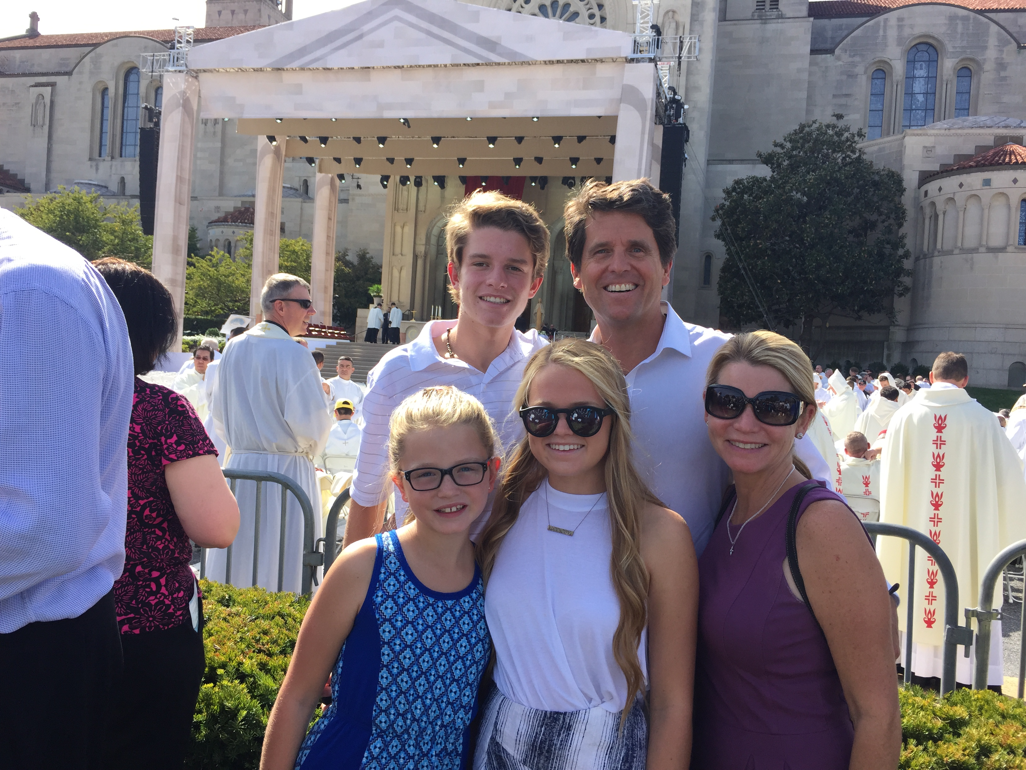 The Shrivers at Papal mass