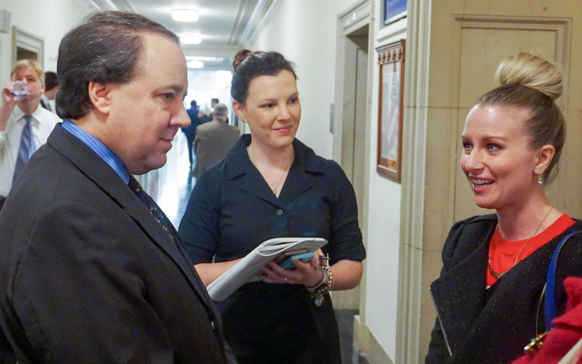 Advocate Crystal Lett meeting with Rep. Tiberi