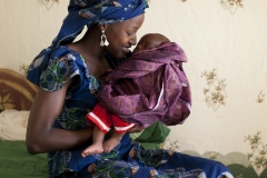 Amina and Jalil, two years, who had previously been suffering f